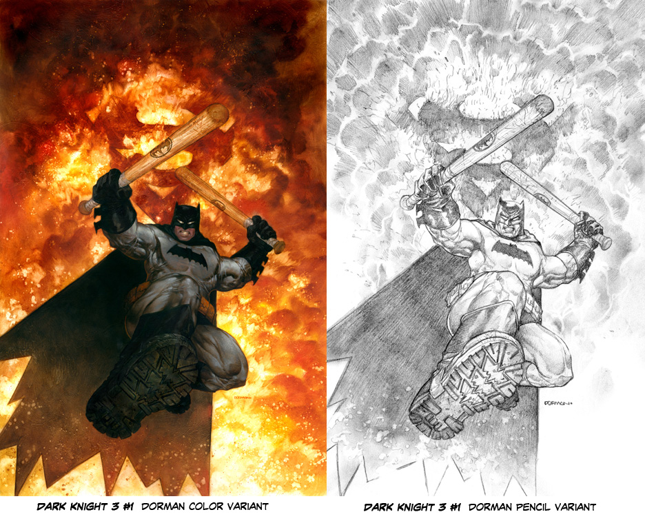 DAVE DORMAN DARK KNIGHT 3 #1 VARIANTS
